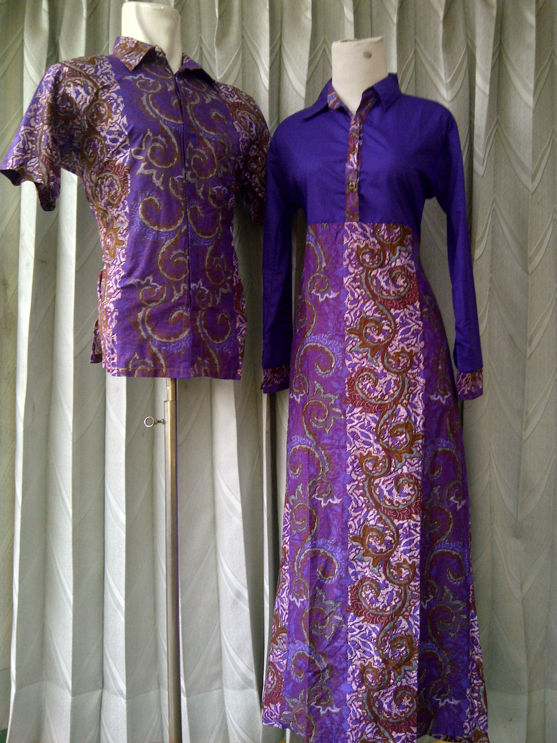 Busana Batik Sarimbit Sarimbit Gamis Batik Kode