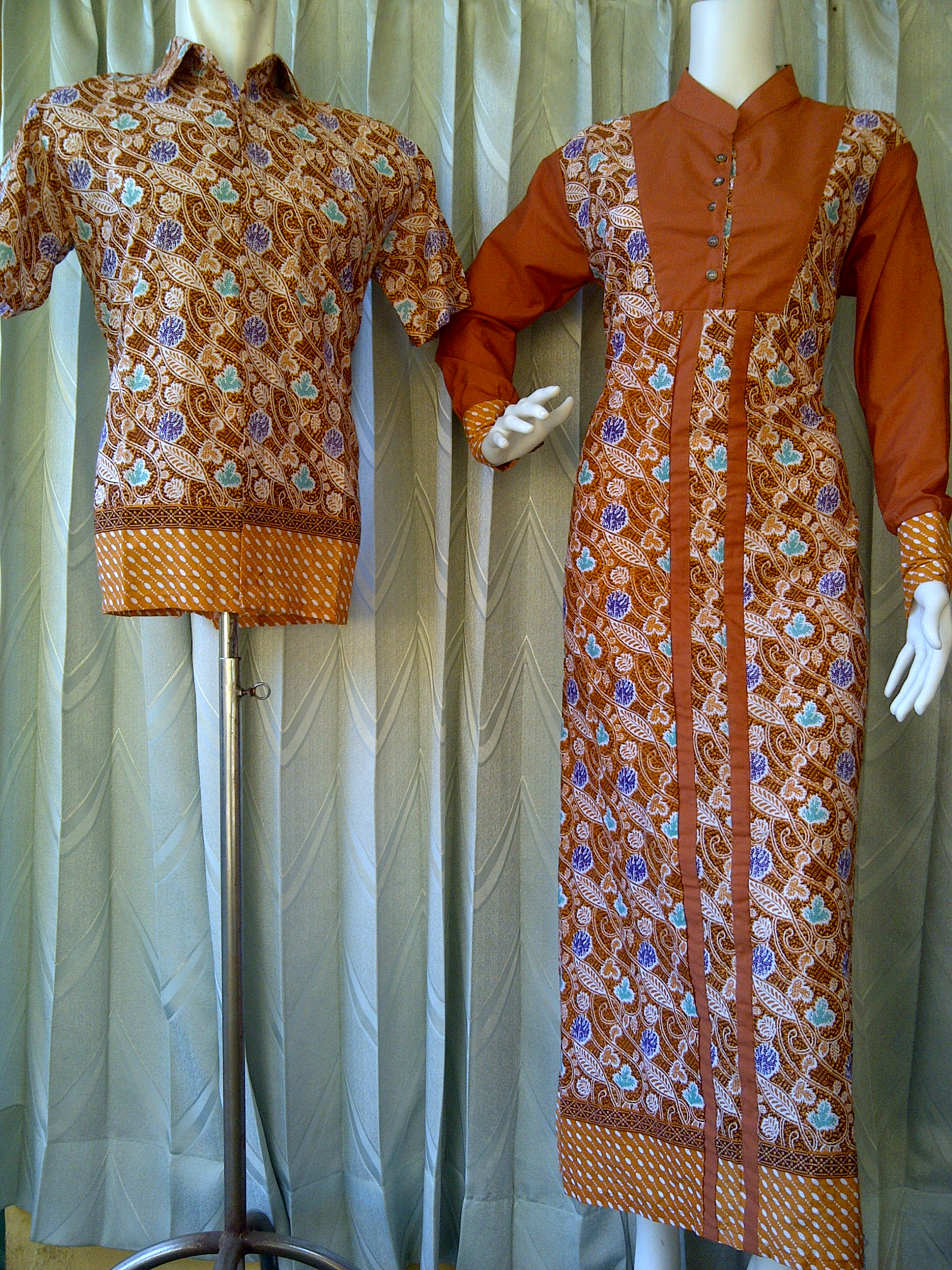 Batik Sarimbit Pekalongan  Sarimbit Gamis Batik  Kode Sarimbit